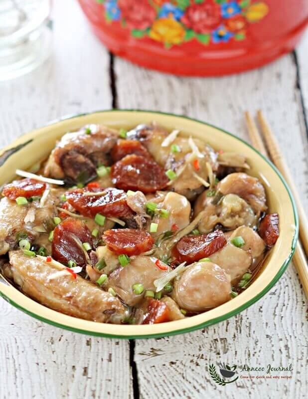 steamed-chicken-with-chinesesausage-038