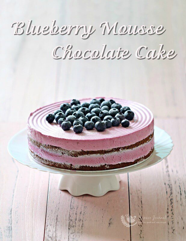 blueberry mousse chocolate cake