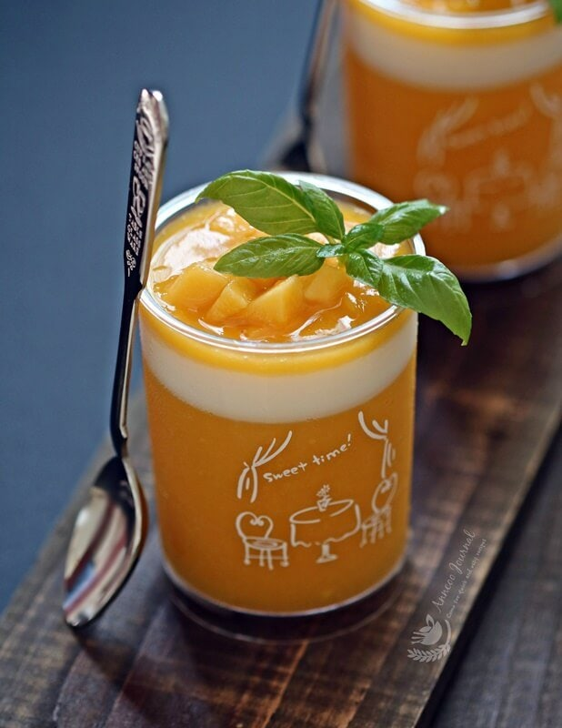 healthy and easy mango pudding