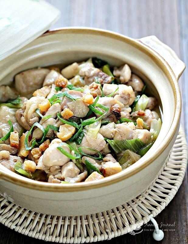 claypot chicken and salted fish