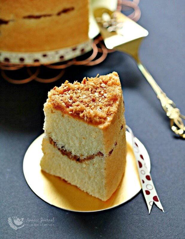 meat floss chiffon cake