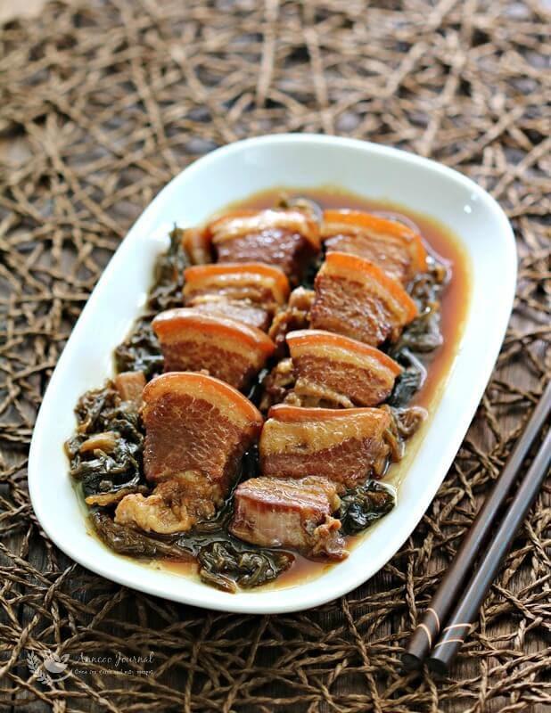 braised pork with mui choy