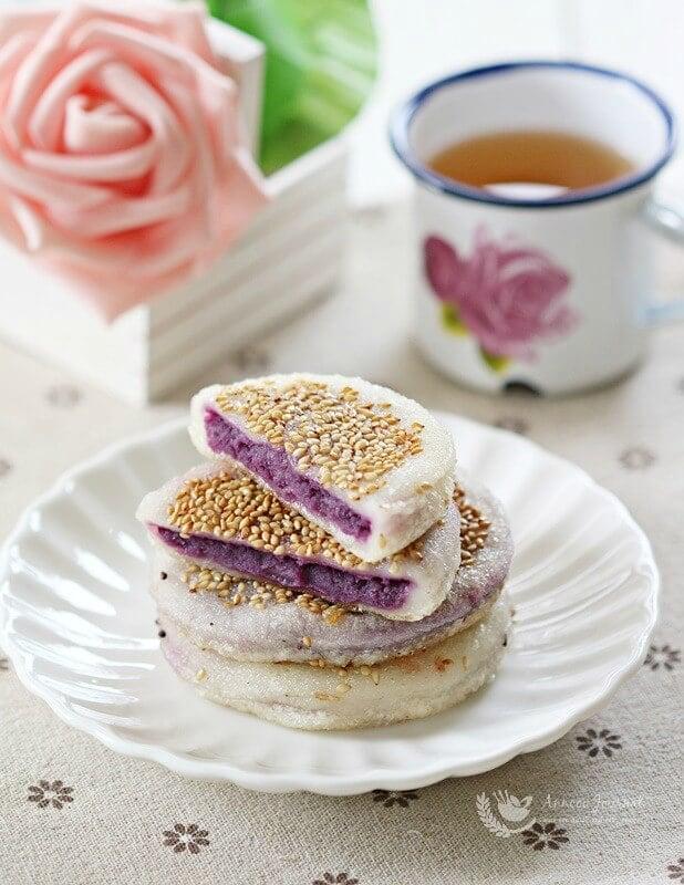 purple sweet potato pancakes