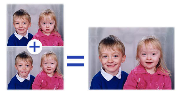 Merging school photos