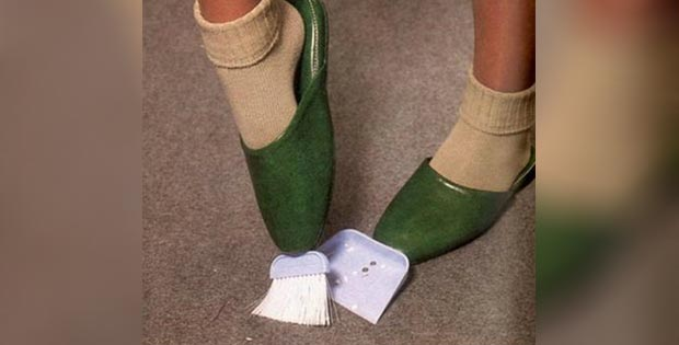 broom-and-dustpan slippers