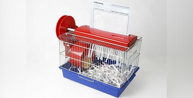 hamster cage shredder