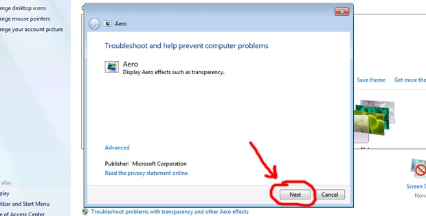 Step 1. Start the automatic troubleshoot.