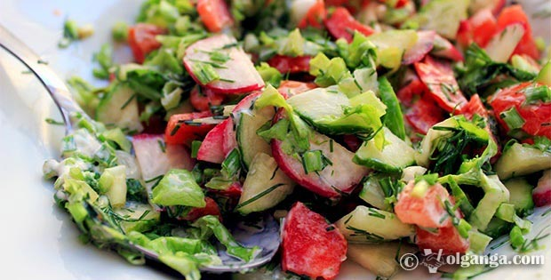 Most simple and tasty Russian summer salad