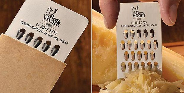 cheese rubber business card