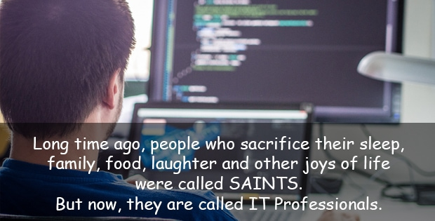 Funny quote about IT professional
