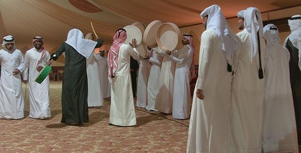 Dances at the wedding in Qatar