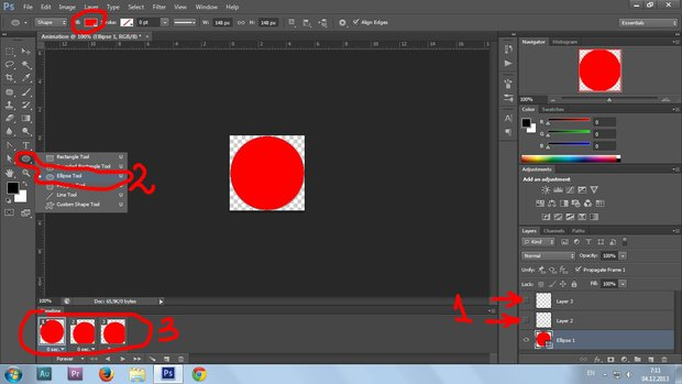 09. Gif animation in Photoshop CS6 tutorial