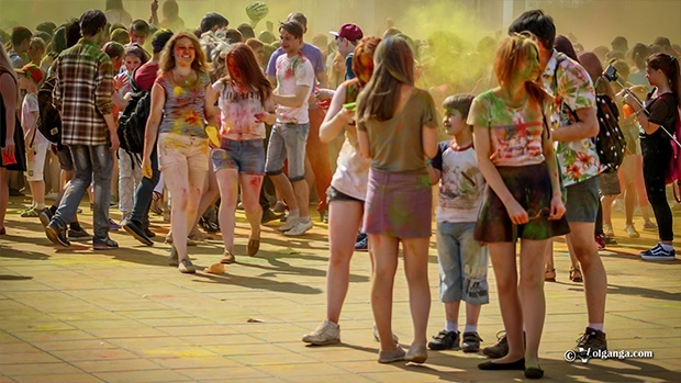 #yarholi. Holi in Yaroslavl, May 30th, 2015