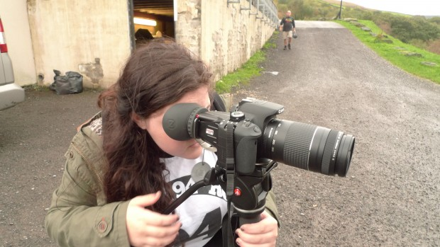 Girl with a DSLR