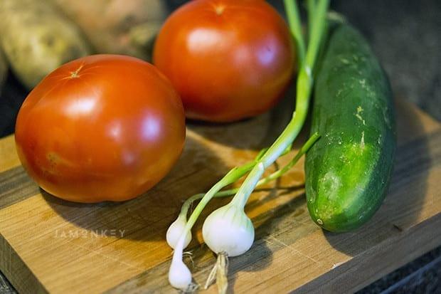 Cucumber, Tomato and Feta Dip