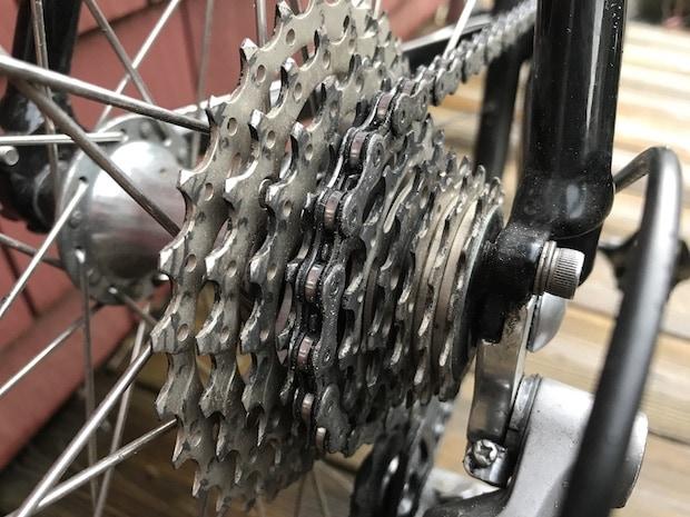 Rear cassette on a bike
