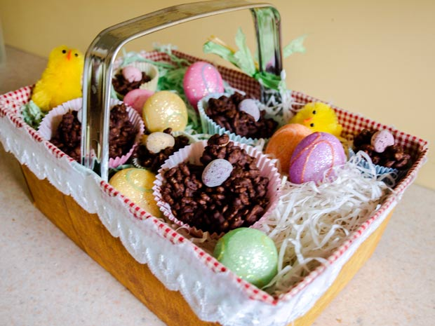 Chocolate Krispies Easter Nests from Farmers Girl Kitchen