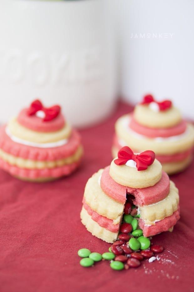 3D Hidden Surprise Ornament Cookies