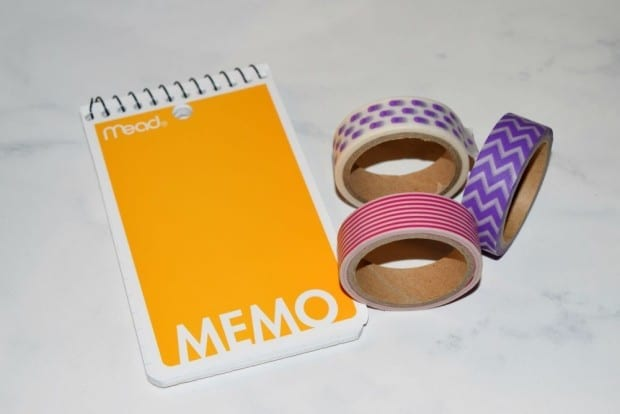 Washi Tape Notebook supplies