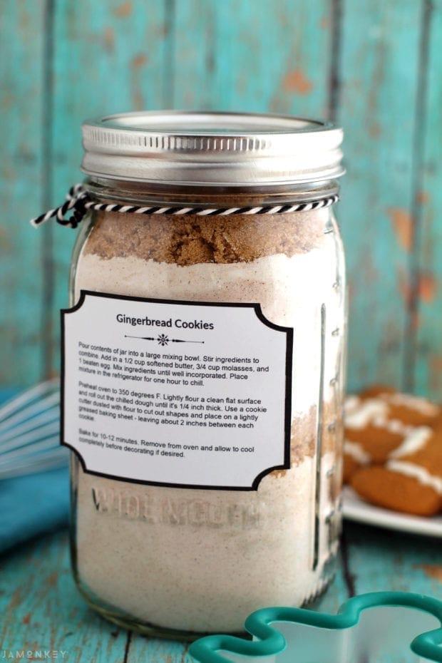 Gingerbread Cookie Mix Jar