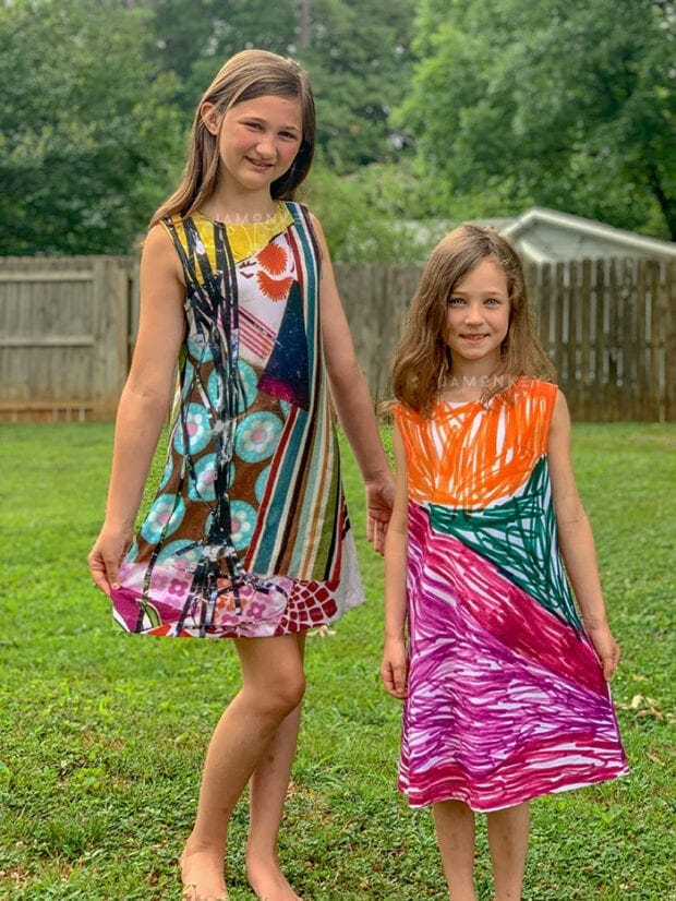 Dresses designed by kids