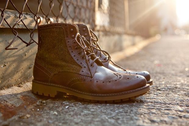 Harris Tweed x Clarks Montacute Lord Boots