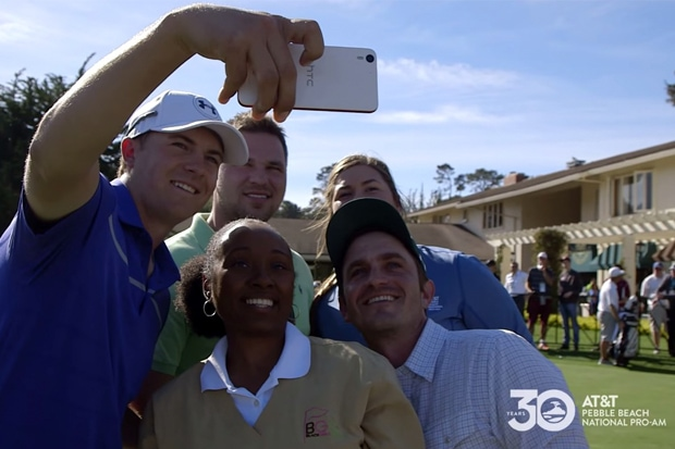 Jordan Spieth Taking a Selfie at Pebble Beach Pro-Am