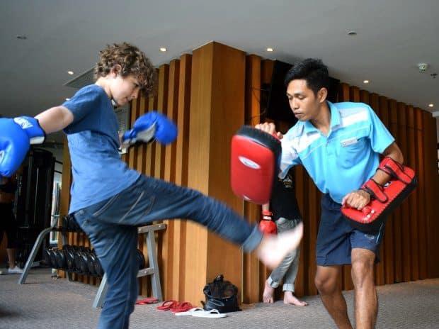 Thai boxing lessons surin beach novotel