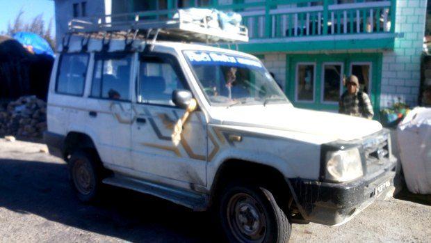 Jeep from Phaplu to Kathmandu