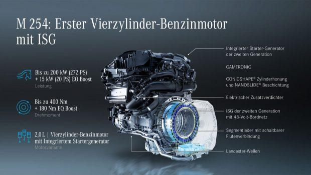 Mercedes-Benz M 254 new petrol engine details
