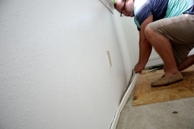 installing luxury vinyl plank flooring - removing baseboards