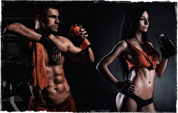 Мужчина и женщина пьют жиросжигатель