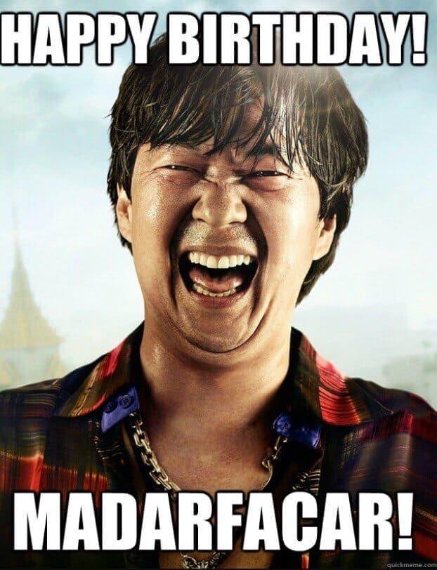 mdarfacar chow hangover bday meme