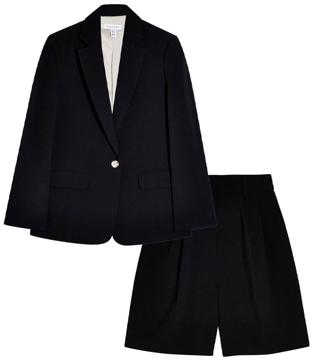 topshop blazer and shorts | 40plusstyle.com