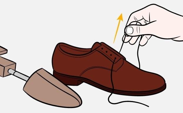 Как почистить обувь-Шаг-1