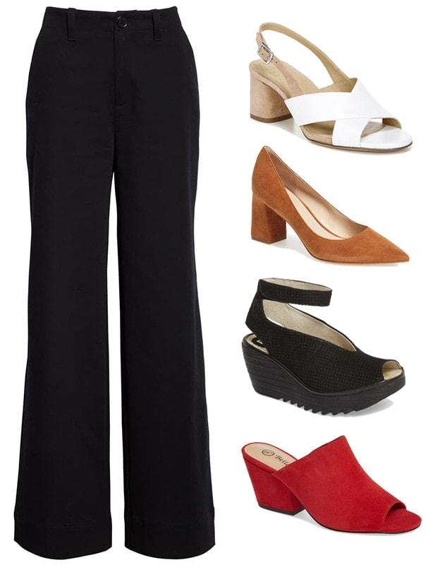 Wide leg pants | 40plusstyle.com
