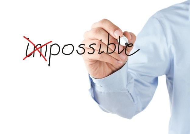 impossible and possible stock pic