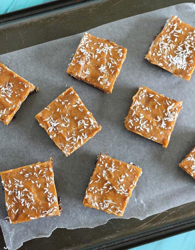 Chocolate coconut pumpkin bars