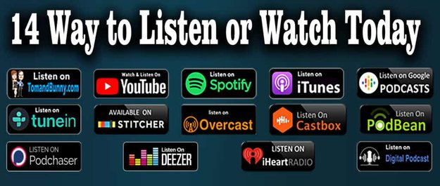Itunes , Spotify , Iheart , Podbean , Google Podcast , Tunein , Stitcher , Overcast , Castbox , Podchaser , Deezer , Digital Podcast