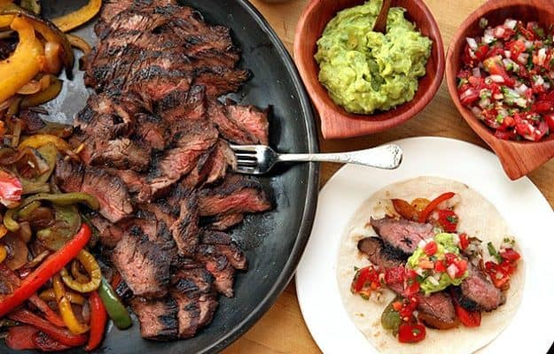 It's Cinco de Mayo! Time to break out the Arrachera al Carbon! (That's Mexican for Beef Fajitas)