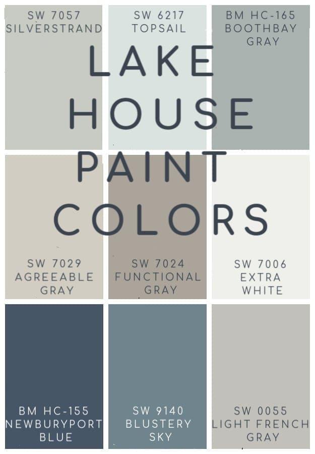 lake house paint colors