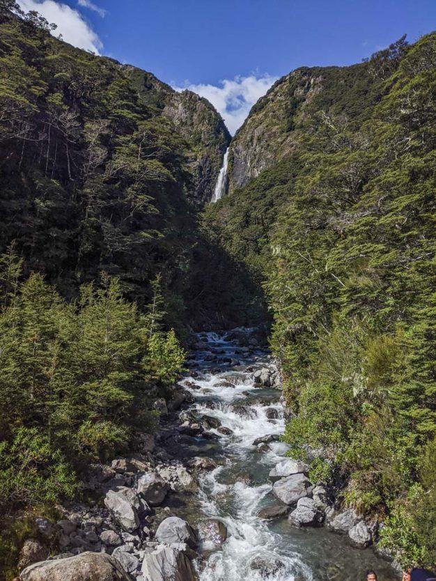 Devils Punchbowl Waterfall and Devils Punchbowl Creek