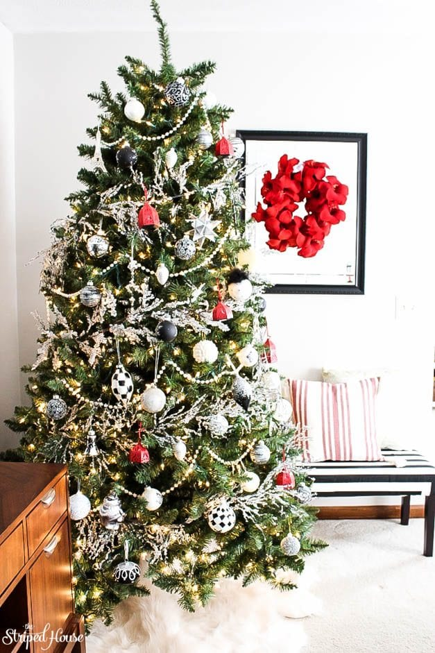 Traditional Christmas Tree.Modern Traditional Christmas Tree The Striped House