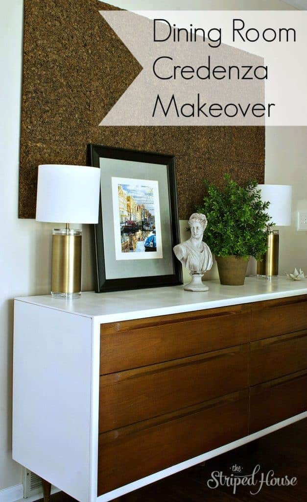 Dining Room Credenza Makeover - The Striped House