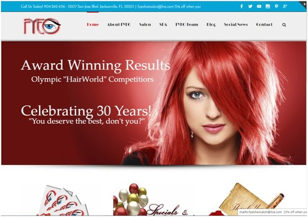 Spa & hair salon site