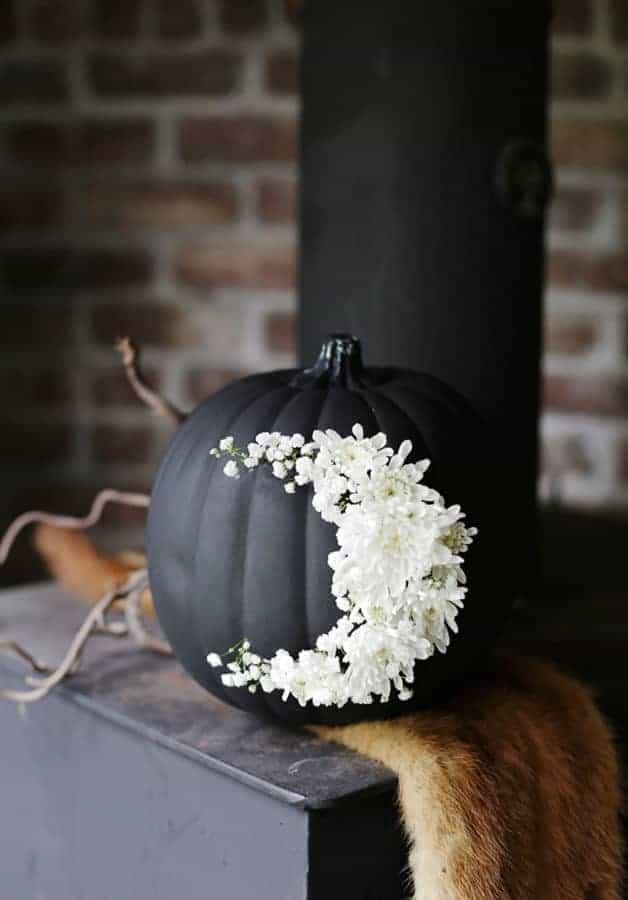 Floral Moon Pumpkin