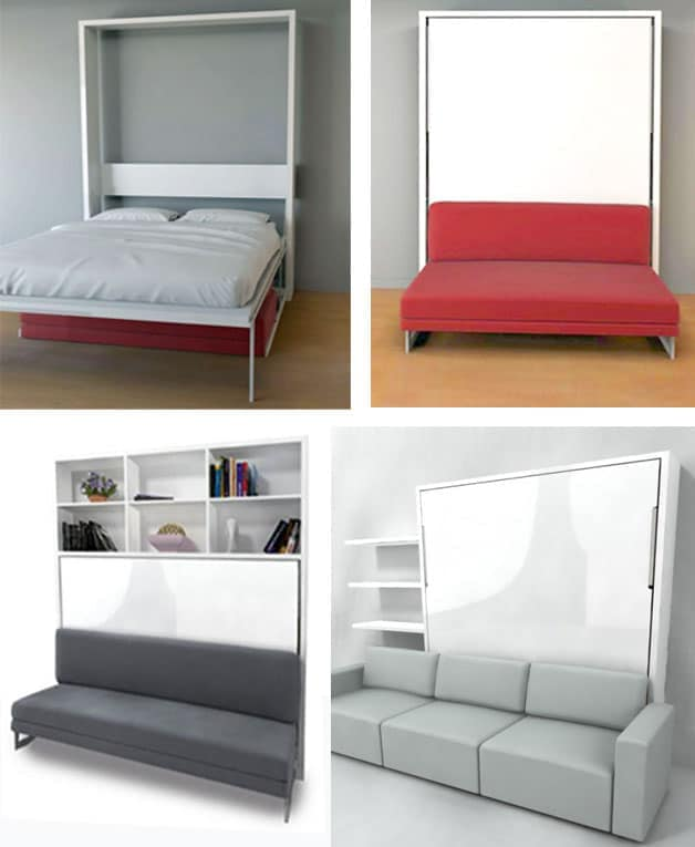wall bed couch system