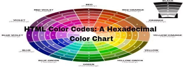 HTML Color Codes: A Hexadecimal Color Chart