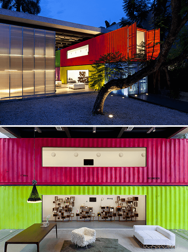 COLORFUL SAO PAULO SHIPPING CONTAINER RESIDENCE