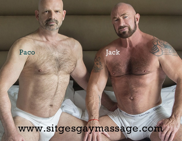 Sitges gay bears: Paco and Jack